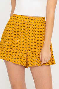 Gold/ Black Pattern Shorts