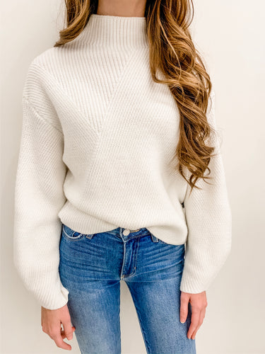 Ivory Mock Neck Sweater