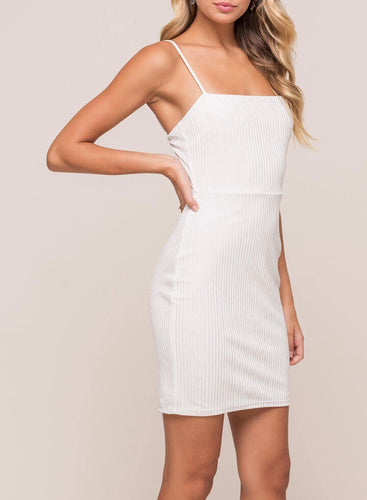 White Sparkle Bodycon