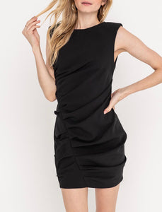 Black Ruched Dress