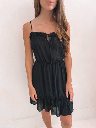 Black Frill Tiered Dress