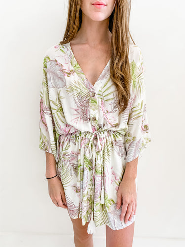 Tropical Kimono Dress
