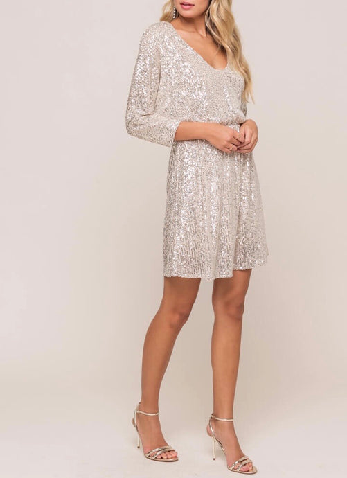 Sequin V Dress