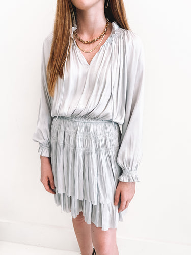 The Brielle Silver Dress