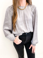 The Luna Blouse Grey