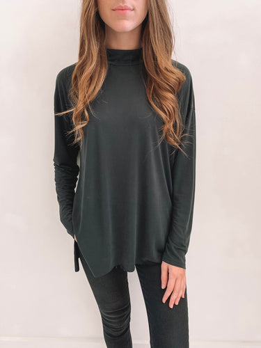 Black Mock Neck Basic