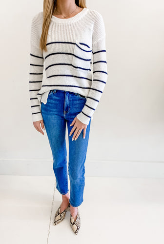 Stripe Pocket Sweater
