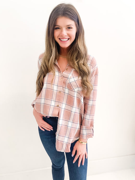 The Jessie Flannel Pink