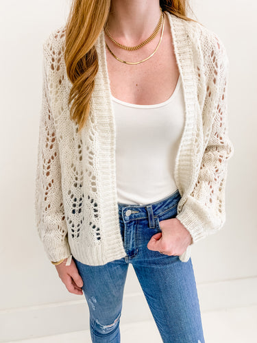 The Ava Sweater Cardi Ivory