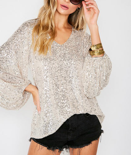 Savannah Sequin Blouse
