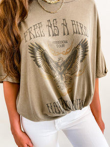 Free as a Bird Oversized Tee