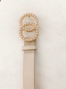 Chanel Inspired Pearl Belt