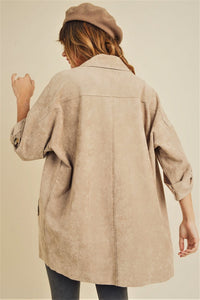 Daphne Suede Oversized Coat