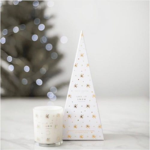 Let it Snow Candle