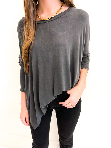 The Sophia Top Washed Black