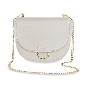 Lucia Saddle Bag Taupe Grey