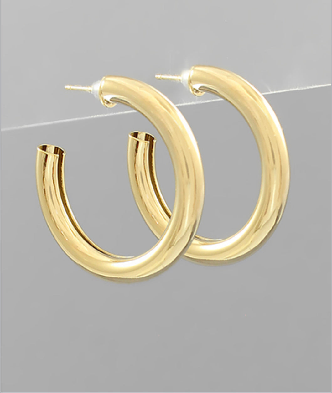 30mm Brass Thick Hoops