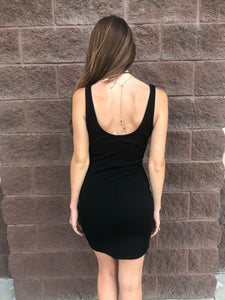 Black Bustier Mini Dress