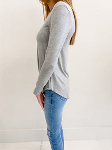 Everyday Grey Long Sleeve Top