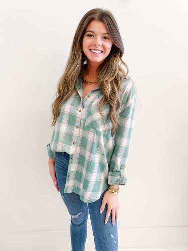 The Jessie Flannel Green