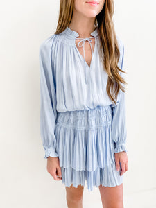 Ice Blue Smocked Dress