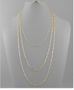 Long Chain Layer Necklace