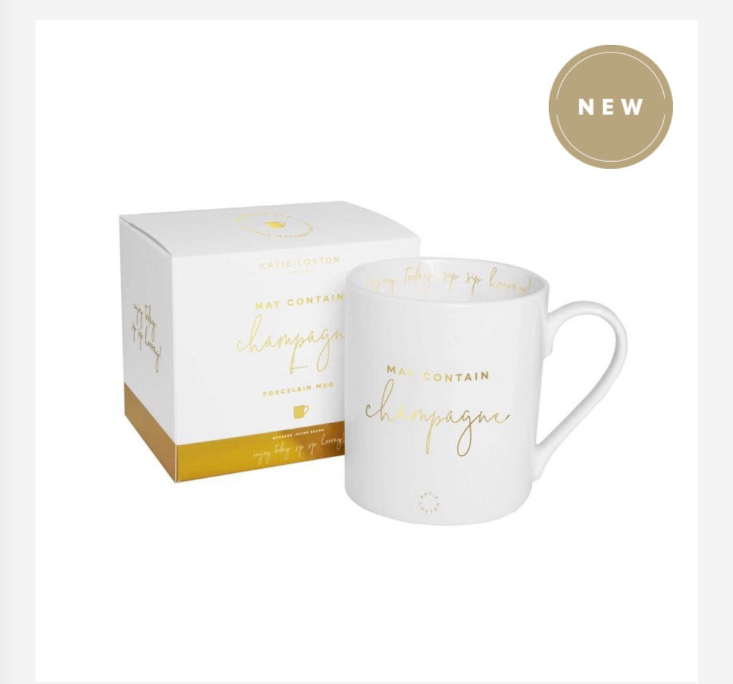 May Contain Champagne Mug