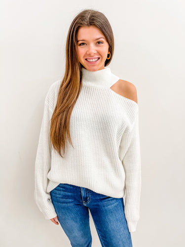 Marie Open Shoulder Sweater