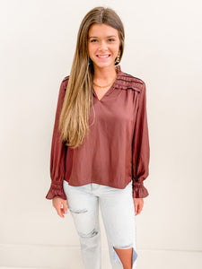 The Sloan Blouse Plum