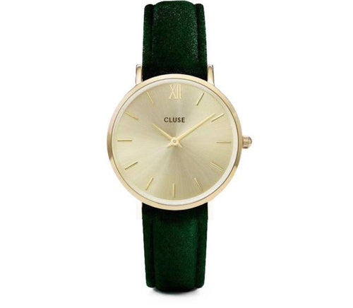 CL30040 Green Velvet Watch