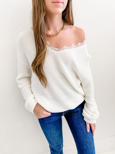 The Isabel Lace Sweater