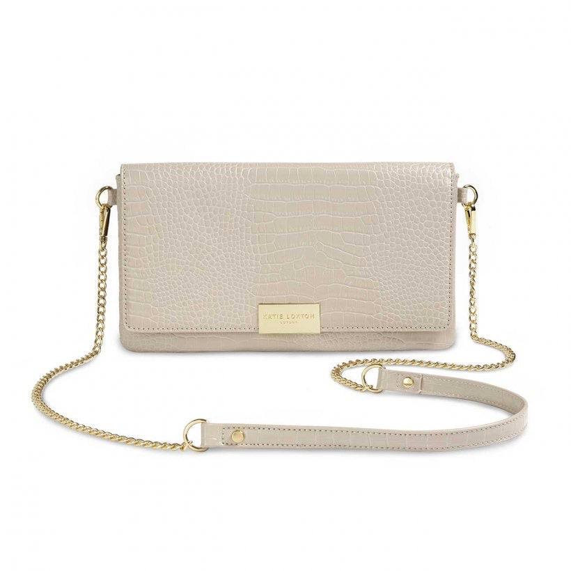 Celine Faux Croc Fold Over Crossbody