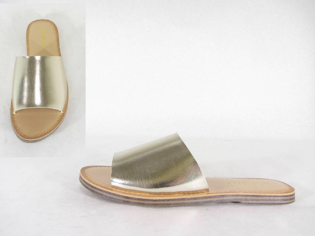 Gold Slide Sandal