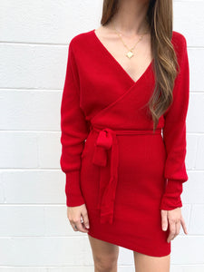 Red Sweater Dress