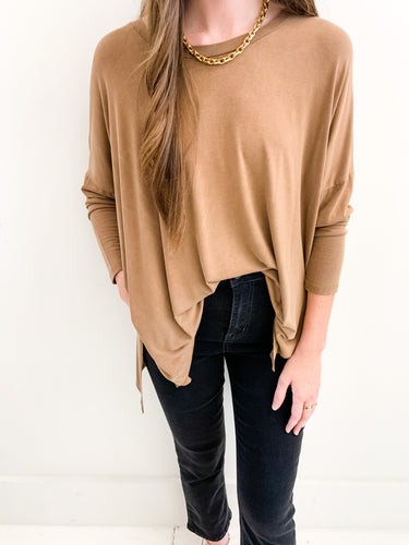 The Sophia Top Cognac