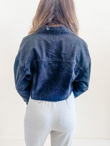 The Frances Denim Jacket Black