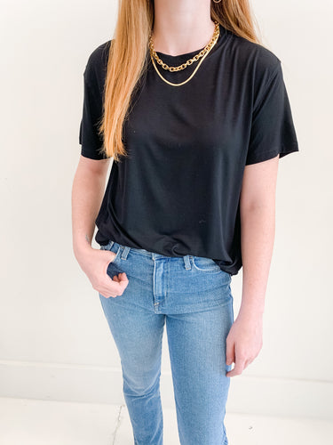 Black Boyfriend Oversized Tee