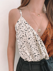 Cream/Tan Print Bodysuit