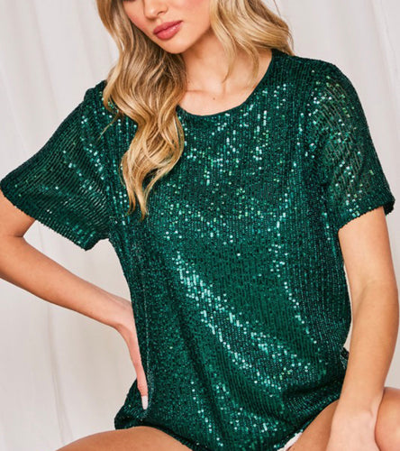 Chastity Sequin Top