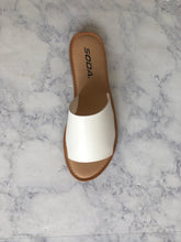 White Slide Sandal