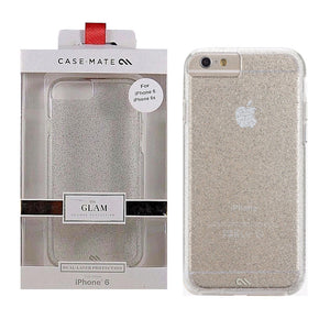 Case-Mate Sheer Glam Hard Cover for Apple iPhone 6 6s - Clear Champagne Glitter