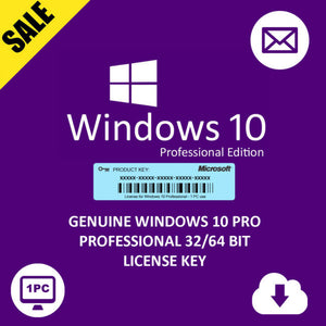 WINDOWS 10 PRO 32 BIT / 64 BIT ACTIVATION KEY