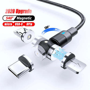 540° Rotate Magnetic Charging Cable