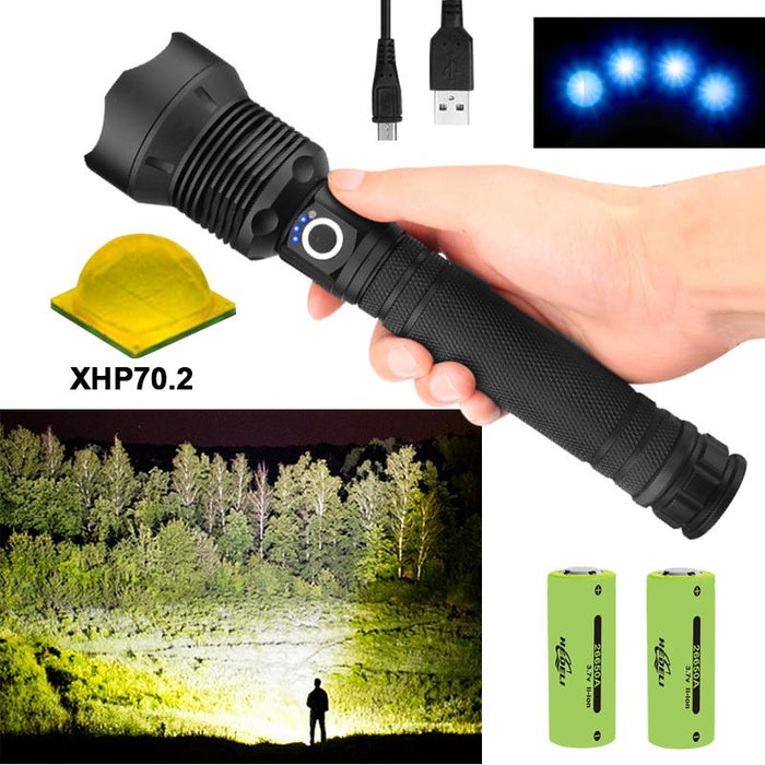 90000 Lumens Outdoor Zoom Dimming Led Flashlight