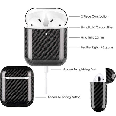 Apple AirPods 1 2 Pro Real Carbon Fiber Case