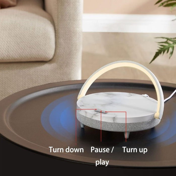 Bluetooth Speaker Night Lamp With Wireless Charging Pad