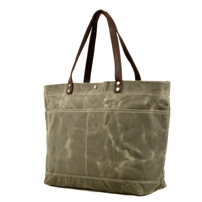 Waxed-Canvas Tote Bag