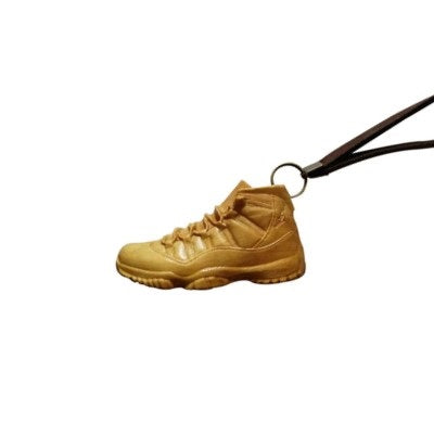 Classic Sneakers Wooden Sculpture Keychain