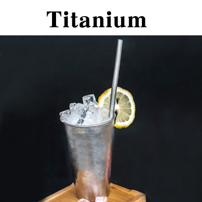 Pure Titanium Cup with Straw 480ml