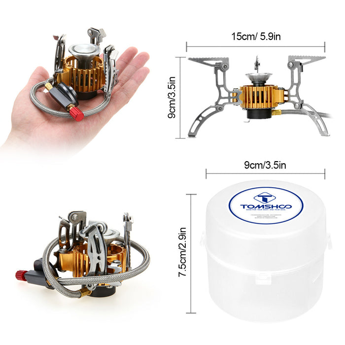 2800W Lightweight Portable Camping Gas Stove with Carrying Case